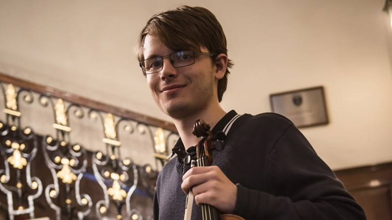 undefinedViolinist and young composer John Sturt