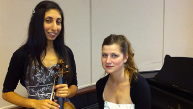 Nandita Bhatia and her accompanist Lucie