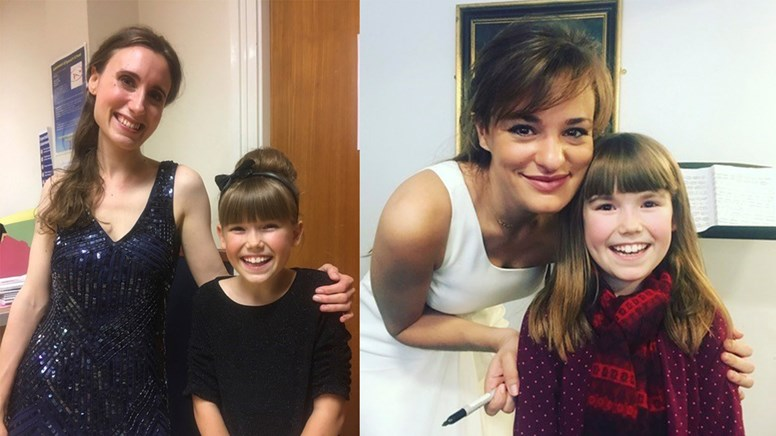 undefinedTallulah Dewson meeting Jennifer Pike and Nicola Benedetti